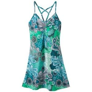 Prana Sonja Paisley Teal Green Short Dress M